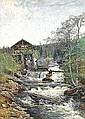 CARL JOHANSSON 1863-1944 Norrländskt landskap med