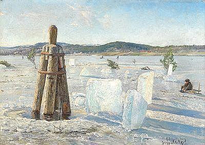 ANSHELM SCHULTZBERG 1862-1945 Vinterdag vid