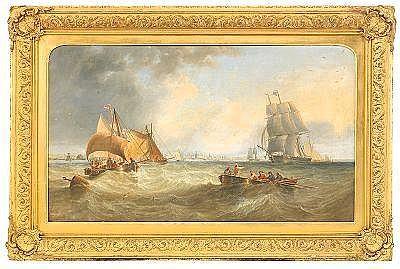 JOHN WILSON CARMICHAEL England 1800-1868 Fartyg