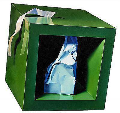 D - YRJÖ EDELMANN född 1941 Cube with paper