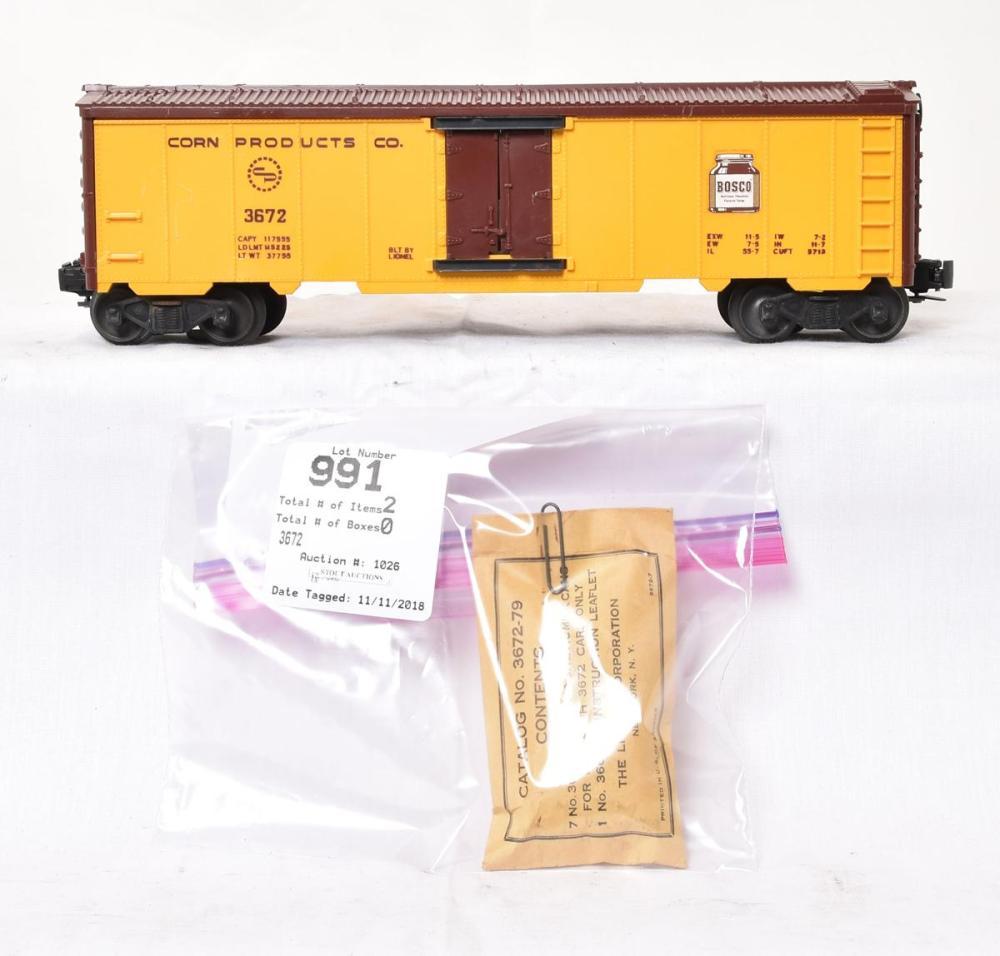 Lionel Train Part 3672-79 Bosco Cans