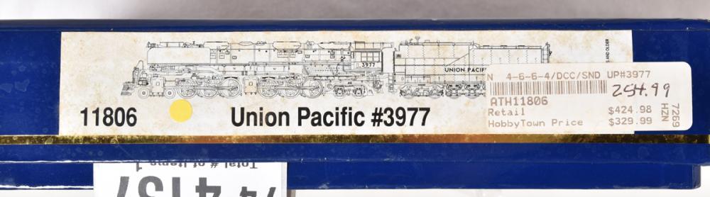 Athearn N scale 11806 Union Pacific 4-6-6-4 Challenger #3977 w/ Tsunami sound