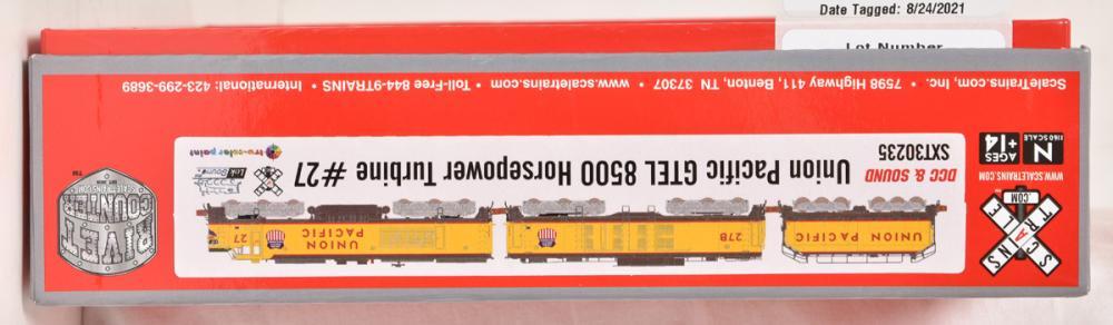 Scale Trains.com N Scale SXT30235 Union Pacific GTEL 8500 horsepower turbine #27 w/ DCC and sound