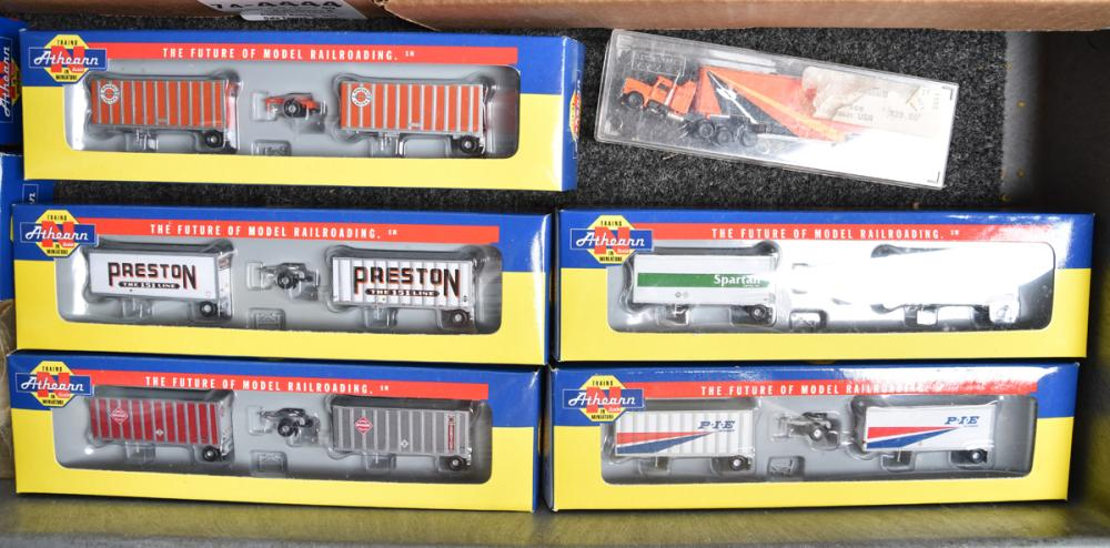 Nearly 125 N scale trucks, cars, and more - Athearn, Atlas, Con Cor, Deluxe, and more.