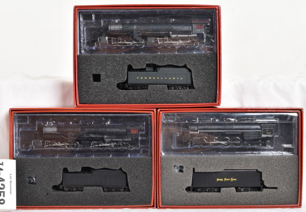 Heritage N scale USRA 2-8-8-2 Pennsylvania and Undecorated, plus Nickel Plate Berkshire steam locomotives