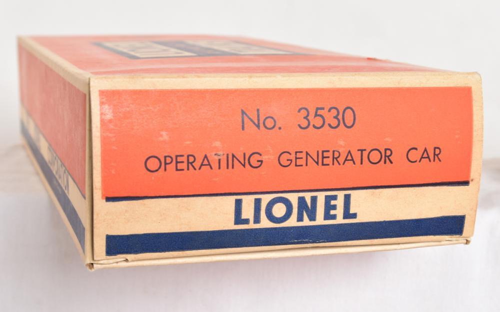 Lionel Postwar 3530 GM Generator Car - Scarce Variation with 3530 underscored with OB
