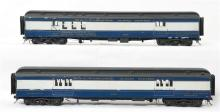 Pair of O scale two rail custom Baltimore and Ohio Baggage and mail cars