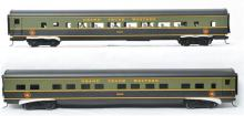 Pair of Weaver modern O scale two rail aluminum Grand Trunk Western passenger cars