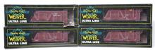 4 Weaver O scale Chicago Great Western 40' foot stock cars