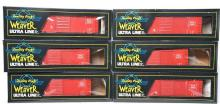Weaver modern O scale two rail group of six Rock Island PS-1 40' foot boxcars