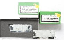 Overland Models HO brass pair of B&O OMI-1390 N-34 covered hoppers - painted