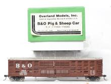 Overland Models HO brass OMI-3057 B&O pig and sheep car