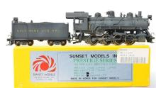 Sunset Models HO brass Baltimore and Ohio L-1a 0-8-0 steam locomotive - painted and weathered