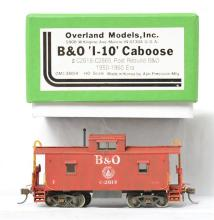 Overland Models HO brass OMI-3804 Baltimore and Ohio I-10 caboose - painted and weathered