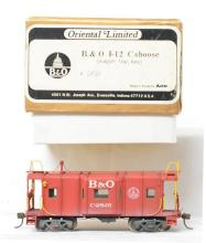 Oriental Limited HO brass Baltimore and Ohio I-12 caboose - painted and weathered
