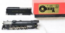 Key Imports HO brass Baltimore and Ohio T4-A 4-8-2 steam locomotive