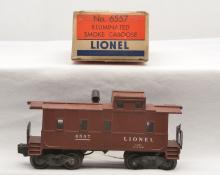 Lionel Postwar 6557 Illuminated Smoke Caboose Boxed