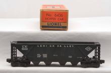 Lionel Postwar 6436 Black Lehigh Valley Quad Hopper Boxed