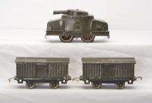 Lionel Prewar O Gauge Gray Armored Freight Set  214 with 203 900 900