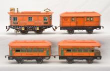 Am Flyer Prewar O Ga. Litho Passenger Set w/3112 Baggage Coach Observation