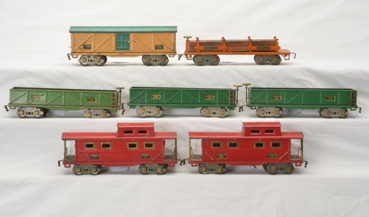 Am Flyer Prewar O Gauge Freight Cars 3206 3207 3207 3207 3208 3211 3211