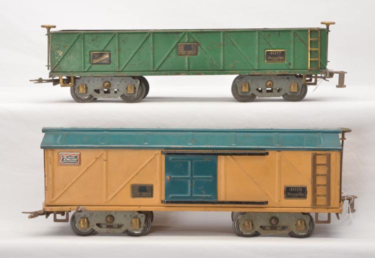 American Flyer Prewar Wide Gauge Freight Cars 4017 4018