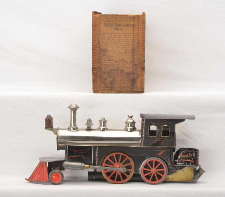 Beggs Prewar no. 3 Live Steam 2-2-2T Loco From Period 2 Circa 1880-1889