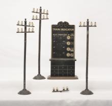 Bing Prewar Ga. 1 or 2 three Telephone Poles and Destination Board