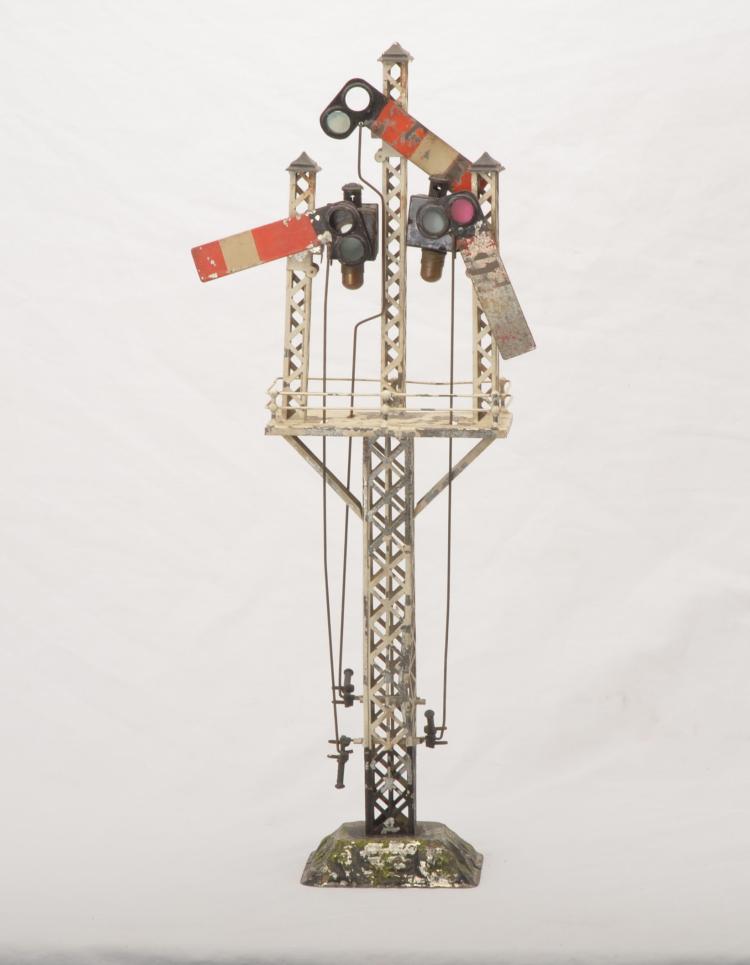 Bing Prewar Gauge 3 or 4 Semaphore with Three Arms