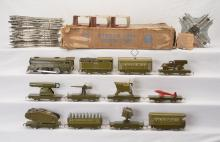 Marx Prewar O Ga. Olive Drab Army Supply Train Boxed