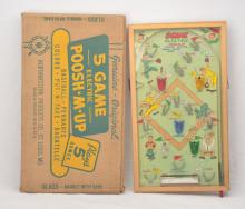 Northwestern Prod.St. Louis, MO no. 462 5 Game Electric Poosh-M-Up Pinball Boxed