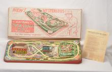 Woodhaven Metal Stamping Co. no. 372 Litho Miracle Twin Train Set Boxed