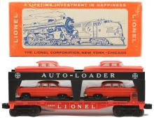 Lionel Postwar 6414 Evans Auto Loader w/4 Red Cars with Gray Bumpers MINT Boxed
