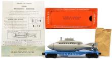 Lionel Postwar 3830 Flatcar w/Operating U.S. Navy Submarine MINT Boxed