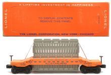 Lionel Postwar 6519 Allis Chalmers Car w/Light or Faded Orange Base MINT Boxed
