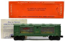 Lionel Postwar 3435 Aquarium Car w/Gold Lettering MINT Boxed