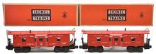 Lionel Postwar two 6517 Cabooses one w/Built Date Underscored MINT Boxed