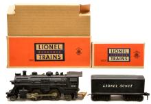 Lionel Postwar 1001 Scout Loco and 1001T Tender MINT Boxed