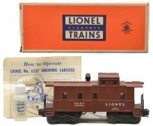 Lionel Postwar 6557 Smoking Caboose MINT Boxed