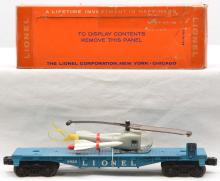 Lionel Postwar 6820 Flatcar with Missile Transport Helicopter MINT Boxed