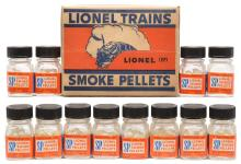 Lionel Postwar Dealer Display Box with Twelve Bottles of Smoke Pellets MINT