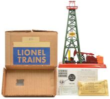 Lionel Postwar 455 Operating Oil Derrick with Red Top MINT Boxed