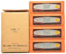 Lionel Postwar Four 6464-375 Central of Georgia Boxcars MINT Boxed Mastercarton