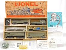 Lionel Postwar J.C.Penney Military 19334 w/221P 3309 6176 6119-125 975 Boxed