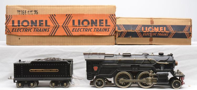 Lionel Prewar Standard Gauge 1835 Black Steam Loco 1835W