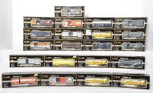 24 K Line O Gauge Freight Cars, 644-1091, 644-1892, 641-0001, 641-8011, 641-1751, 636102, 636101