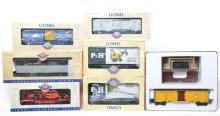 9 Lionel Postwar Celebration Series freight cars 36702, 27710, 39290, 26024, etc.