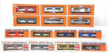 14 Lionel mint cars 19698, 19676, 7522, 19667, 19698, etc.