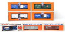 7 Lionel operating boxcars 26766, 26806, 26792, 9228, 9229, etc.