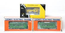 Lionel and K Line motorized units 18404 San Francisco trollies and Bethlehem Steel Plymouth